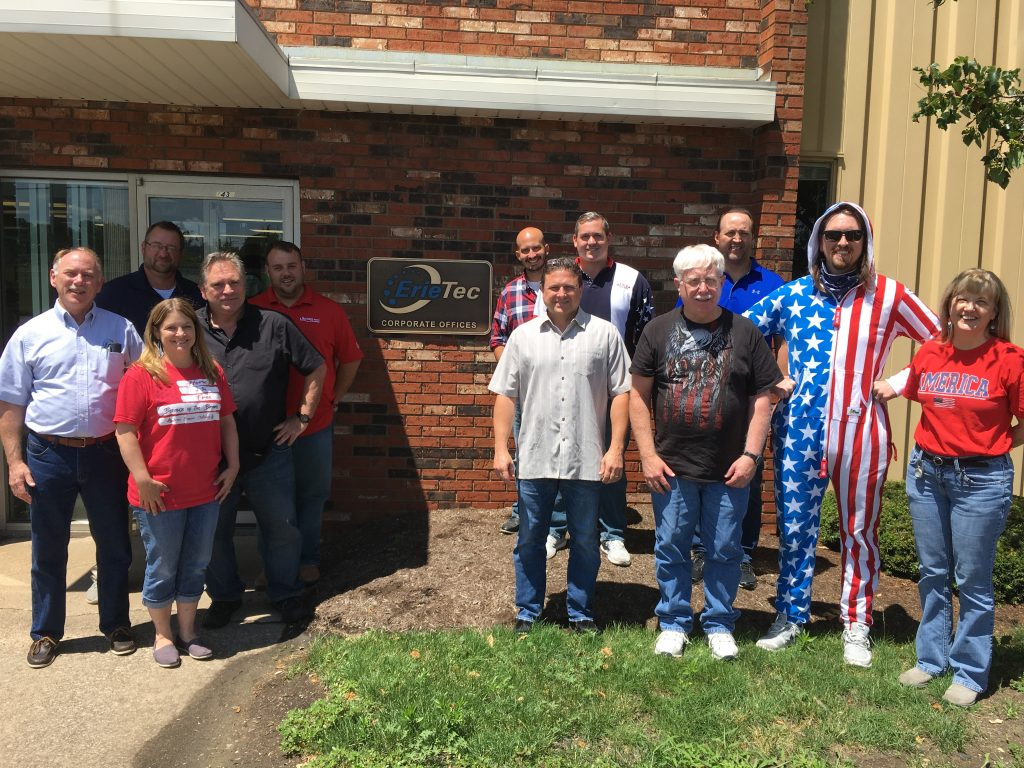 The ErieTec team celebrating Independence Day July 3. We are closed July 4.