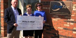 erietec donates 29,452 dollars to make-a-wish