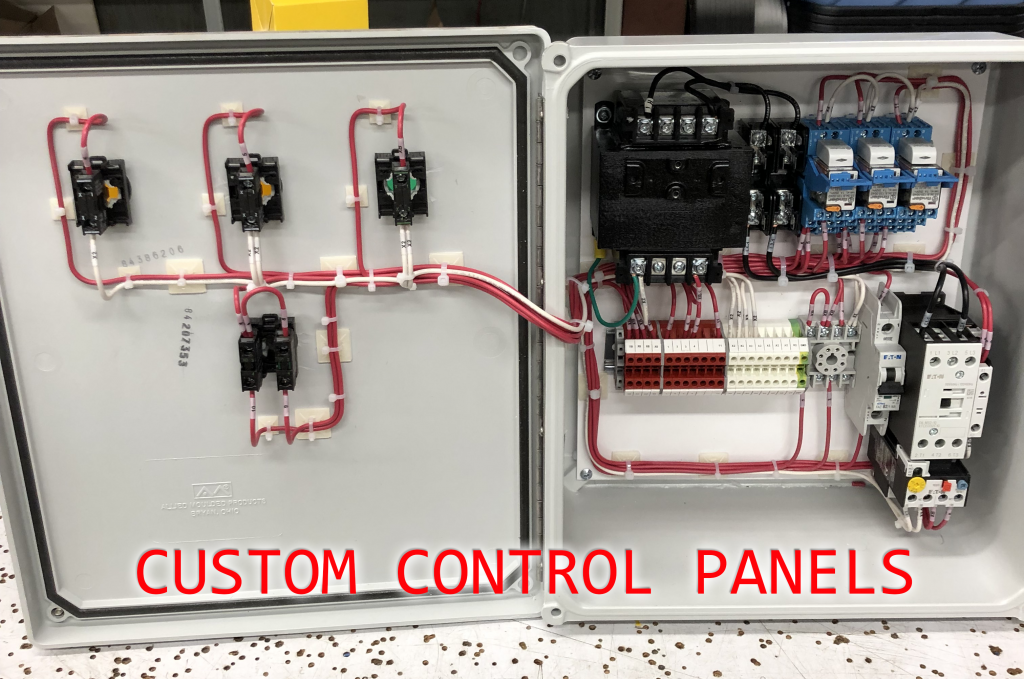 custom control panels by eb controls this is an example of an electrical panel built by eb controls