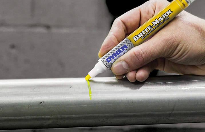 brite-mark medium permanent paint marker by dykem, paint marker for metal, rubber, plastic, glass, concrete, leather, stone, wood, vinyl